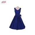 Spring summer fashion women clothing ladies dresses V neck A line prom dress