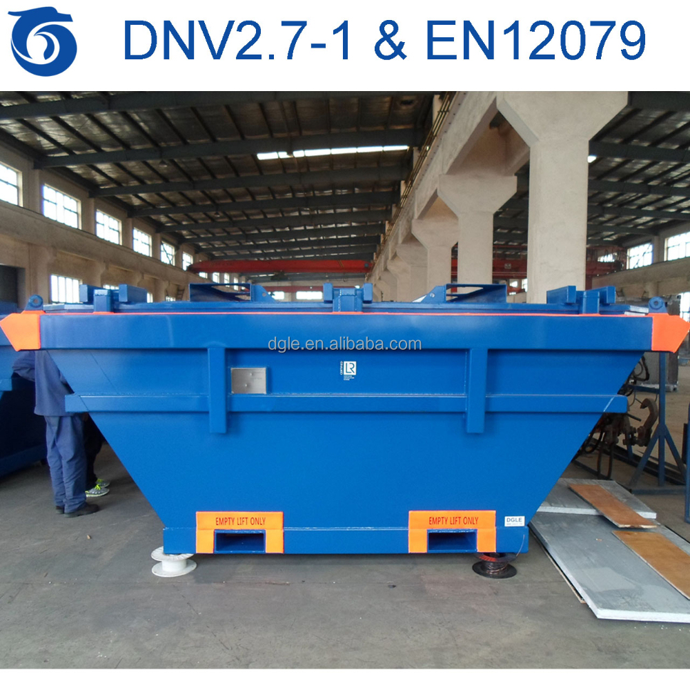 waste mud skip with lid offshore container dnv 2.7-1 en12079