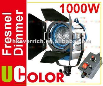 1000W Tungsten Fresnel With Dimmer Control Video Spot Film Light Continuous Lighting