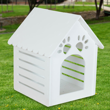 Petsfit Outdoor Wooden House For Dod/Environment Friendly Material Pet House With White Color