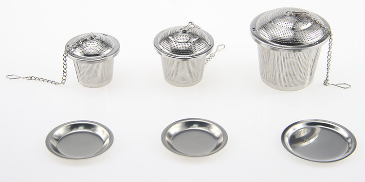 Stainless steel tea infuser with drip tray and scoop, Tea strainer, Tea steeper