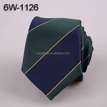 Blue and green striped Micro Fiber neckties Polyester Woven mens neck ties 6W1126