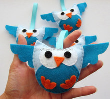New design fashion hot China wholesale cheap custom kid stuffed plush world cup promotional gifts giveaways felt owl toy