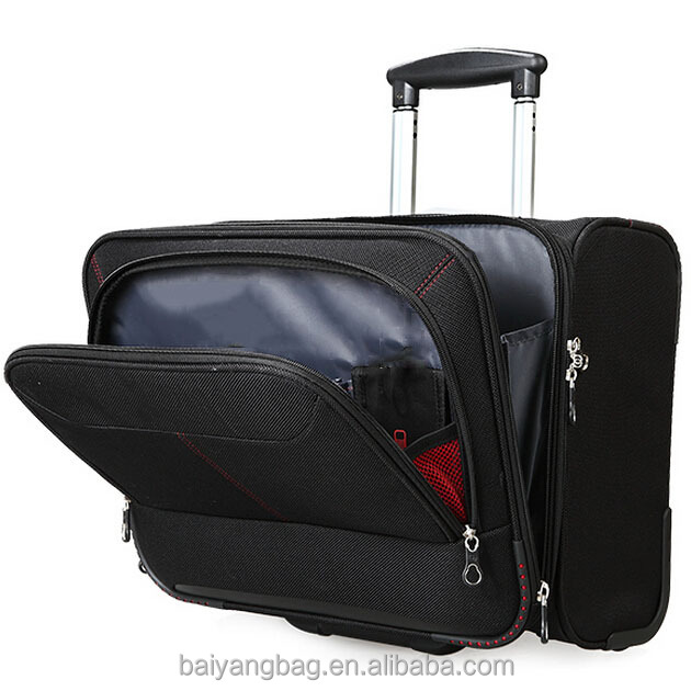 Customized size fashionable travel laptop business trolley luggage bag for sale
