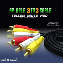3.5mm 3 rca to 3 rca audio/vedio wire cables