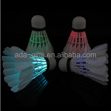 promotional cheap training flashing led shuttlecock