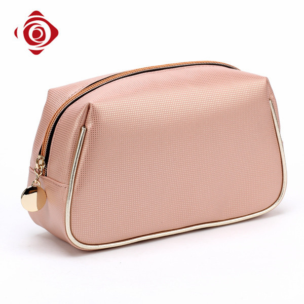 Custom printed young ladies PU leather cosmetic zipper pouch