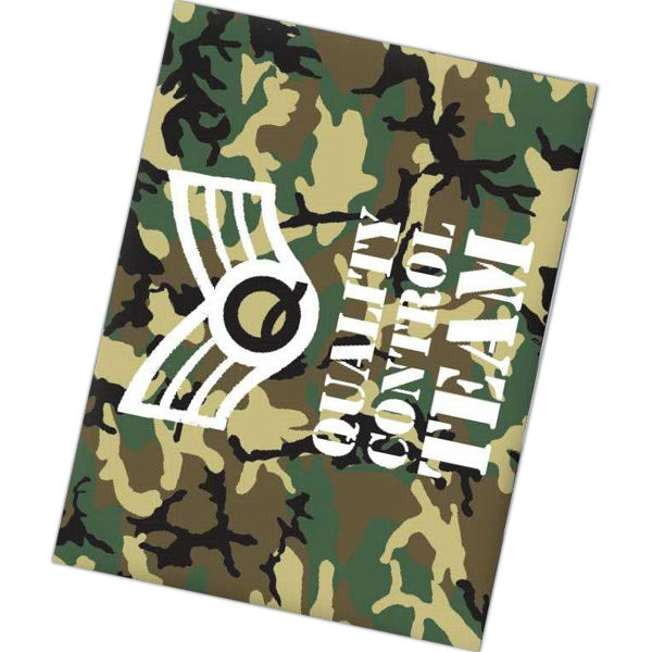 "Sublimated standard weight blanket. Dimensions are 40""h x 60""w."