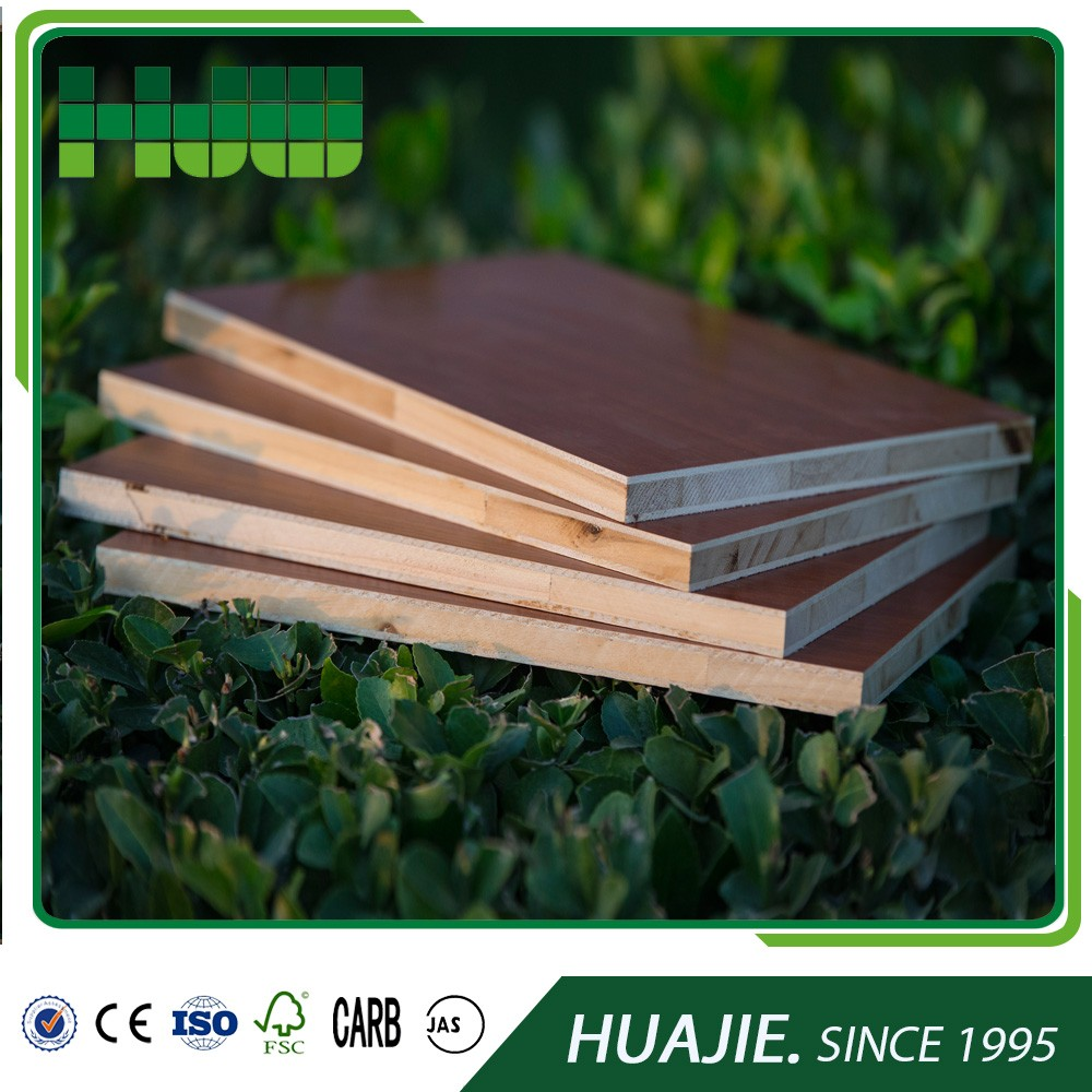Hot sale decorate green cabinet grade block board plywood