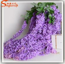 Latest design Wall hanging artificial flowers artificial plastic wisteria flower arrangements for wedding wall decoration