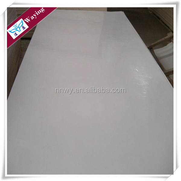 High Glossy White Faced HPL Plywood for Indoor Decoration