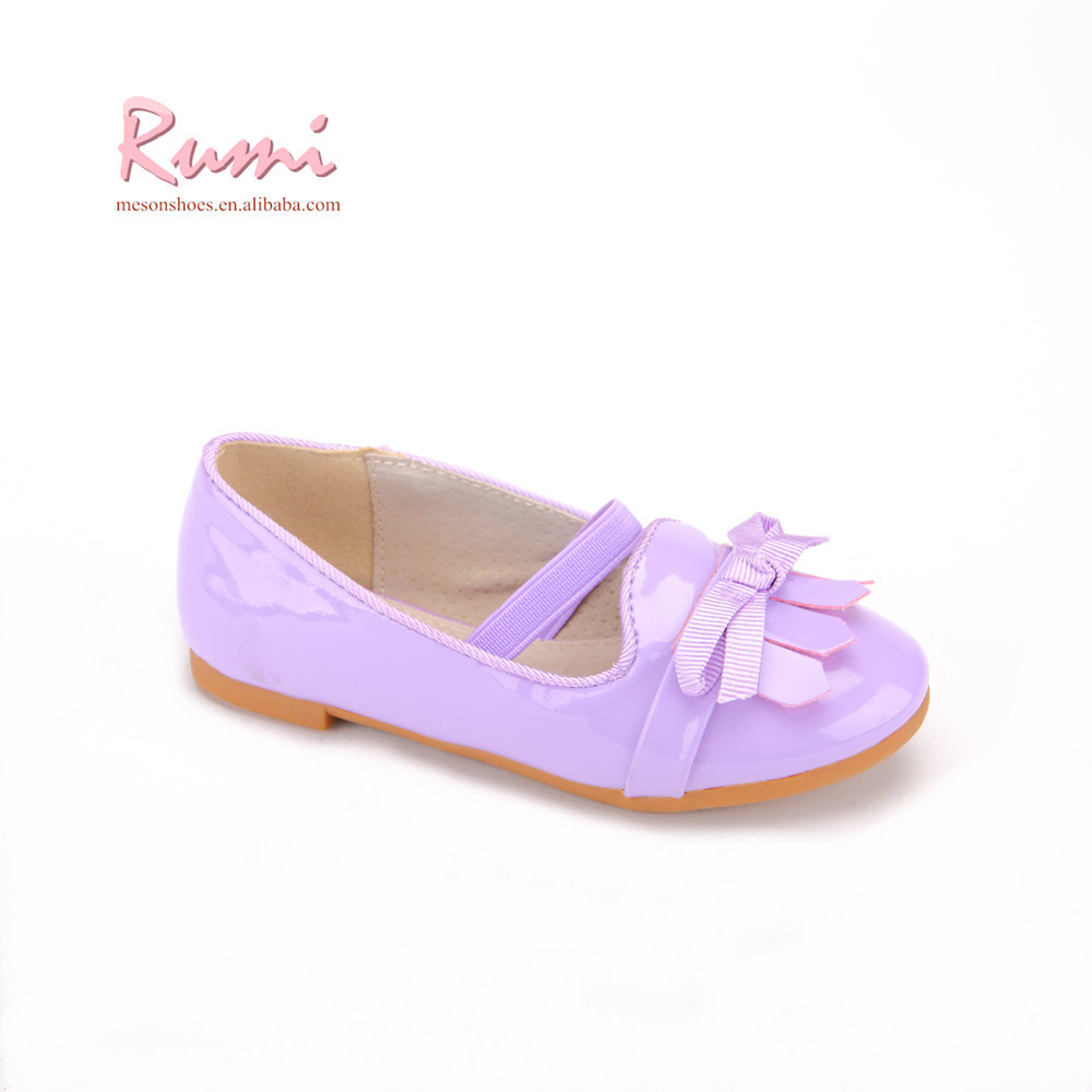 Chinese manufacturers purple leather PU loafer girls flat sport shoes