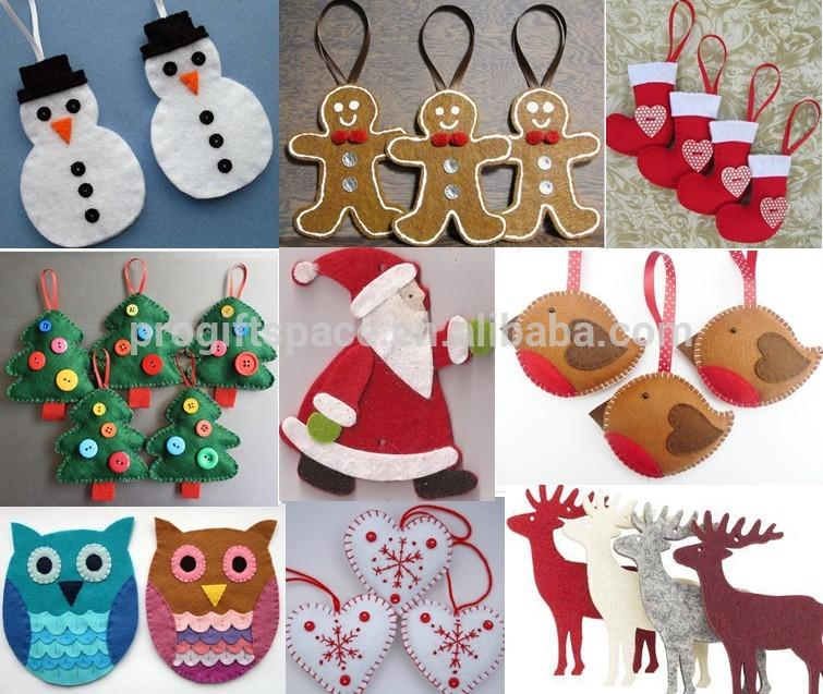 2018 hot sales new cheap fashion products China fabric crafts decoration felt handmade cute wholesale Christmas owl charms gift