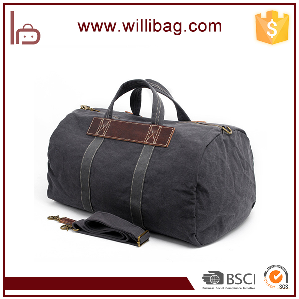 China Supplier Wholesale Canvas Quality Luggage Bags Leather Travel Bags