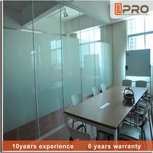 Soundproof office partition glass cubicle partition