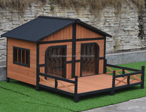 High quality Outdoor large pet house removable wooden dog house, dog kennel with window wholesale