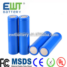 18650 Battery 2 Pack - EWT High Performance Lithium Ion Battery Pack - 2400 mAh Rechargeable Batteries