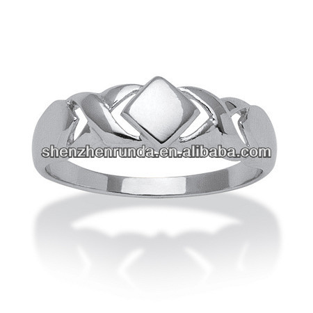 high polish Jewelry Hug & kisses ring stainless steel simple Ring Wedding Jewelry China supplier