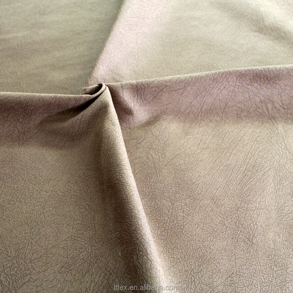 Polyester Woven Faux Suede Bonded Single Brush Highly Embossed Sofa Fabric