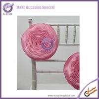 k1935 pink wedding flower balls fabric flower materials for flower making