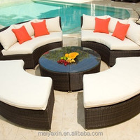Modern Used Patio Wicker Rattan Round