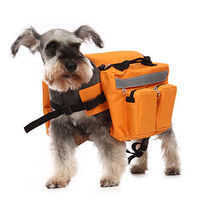 Outdoor dog saddle backpack pet dog self carry harness bag for Camping