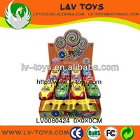 China manufacturer high quanlity pull back car toy candy for kids