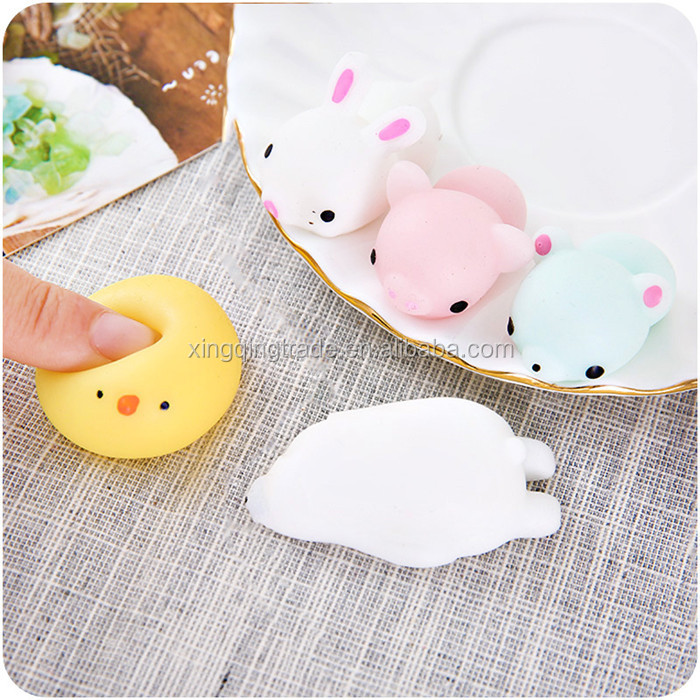 Mini Squeeze Toy Stress Reliever Gift for Kids Funny Novelty Squeeze Toys Children Finger Exercise Stress Cute Animal