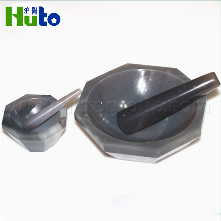 Custom Stone Mortar And Pestle For Powdering Chemical Samples