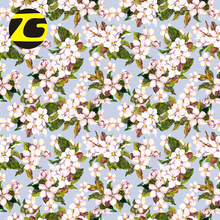 Chinese textile wholesale 12mm digital printed twill silk fabric for party dress