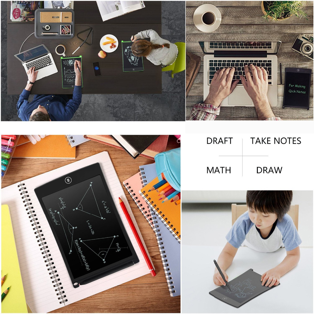 9.7 Inch LCD Liquid crystal electronic Drawing board writing tablet Lock screen Mini Portable Painting Toys Kids Creativity