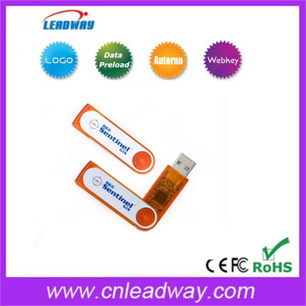 Translucent plastic and swivel USB flash drives best selling jump drive