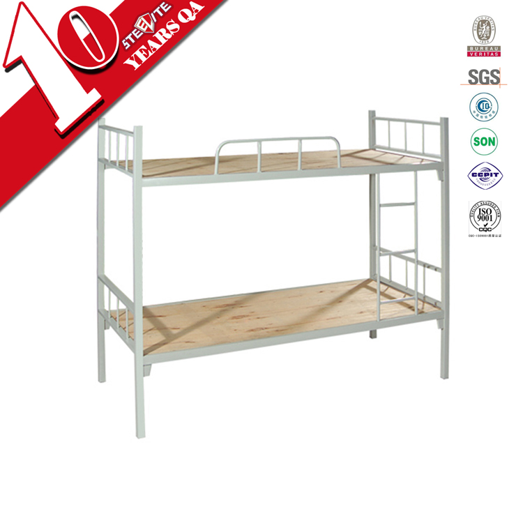 High quality workers bunk bed with metal frame / simple design iron two floor bed