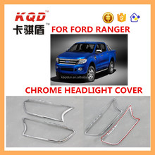 hot car accessories abs plastic chrome headlight cover for f ord ranger 2012~2016
