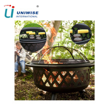 Round Shaped Outdoor Safety Cover Steel Bowl Fire Pit