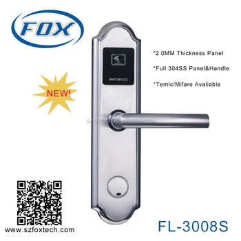 FOX high quality 304 staniless steel electronic hotel door lock system