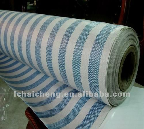 Striped color Awning PE Tarpaulin Fabric For cover/sheets/mat