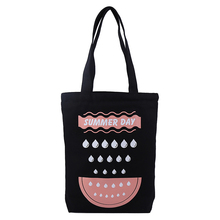 Black cotton canvas cotton carry tote bag with custom print logo for packing