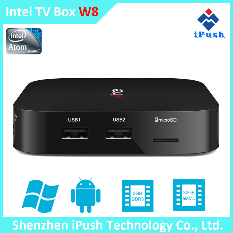 WIntel tv box has dual OS for window 10 and Android 4.4 tv box Wintel tv box Wintel W8 MINI PC