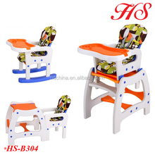 EN14988 passed 3in1 baby food chair plastic high chair for baby