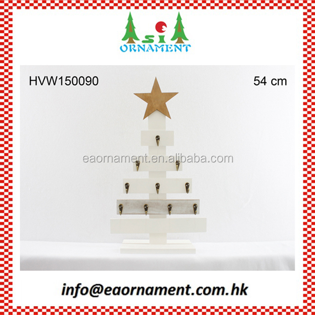 Tree shape wooden table stand of christmas home decoration