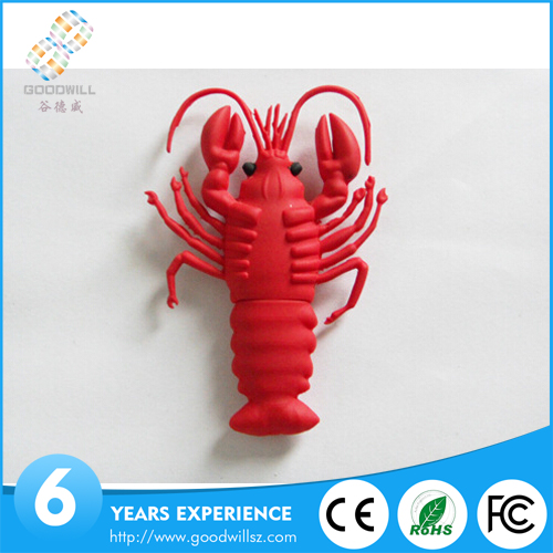 Promotion lobster shape USB 2.0 flash pen drive 2gb 4gb 8gb