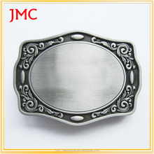 hot sale custom craft western silver belt buckle blanks made in China