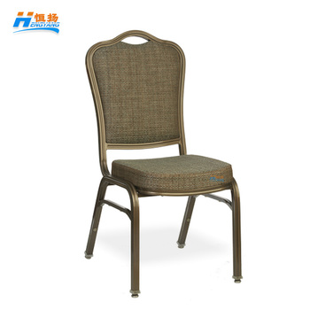 stackable metal aluminum molded sponge wholesale hotel banquet dining chair for sale