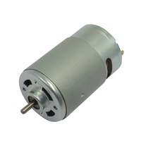 6000rpm dc 24 volt 550 motor, high speed brush 550 dc 12 volt motor