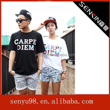 2014 family couple design short sleeve t-shirts in China