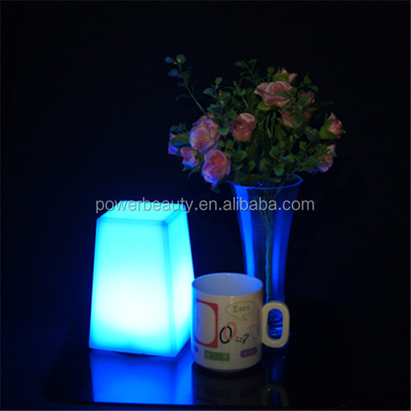 color changing illuminated plastic rechargeable tea led candle with 7 colors