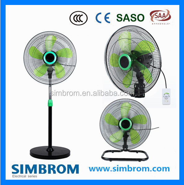 Outdoor Pedestal Super Powerful Wind Stand Fan With Light Ventilador Fan