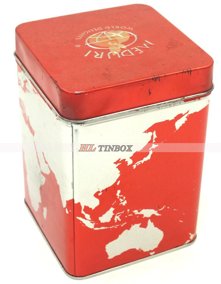 China Guangzhou Square Metal Tin Box