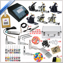 high quality Complete 6 Machine Gun Set Tattoo Kit all equipment Supply